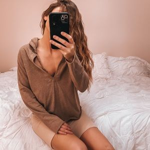GAP women's small brown hoodie pullover earthtone